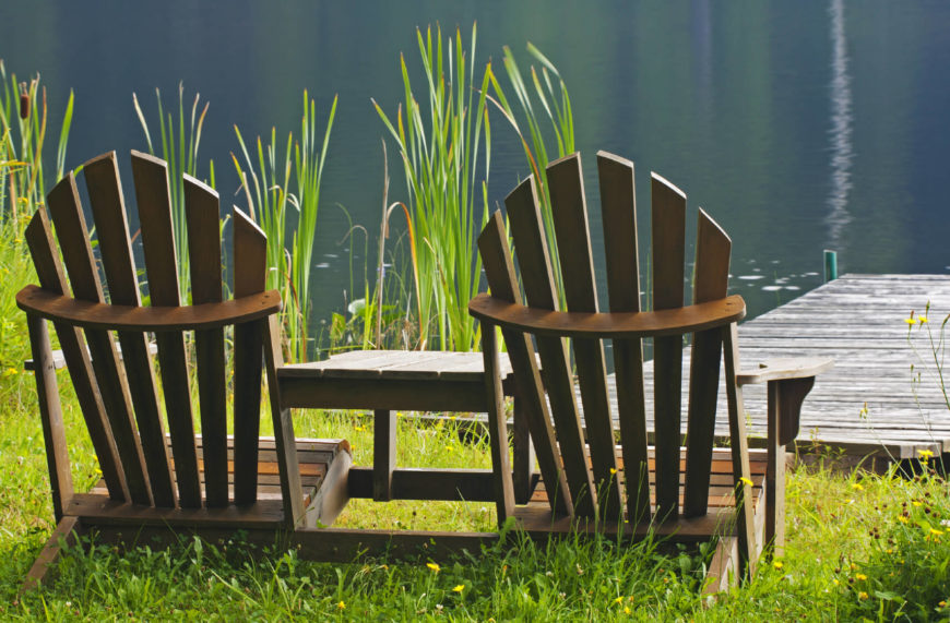 Some Adirondack chairs sit closer to the ground. What a way to enjoy your water front than sitting back and taking in nature.