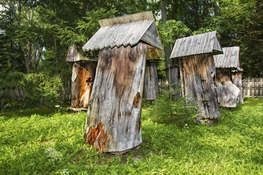 This idea is fantastic, one of the most organic and subtle boxes yet. Carved from existing tree stumps, they offer a truly organic place for the bees to build hives, while simple roofs constructed from old fence panels offer protection from the elements.