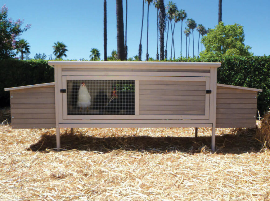 Here's a relatively simple design, with an elongated box structure and broad, convenient openings. This is perfect for yards with limited space.