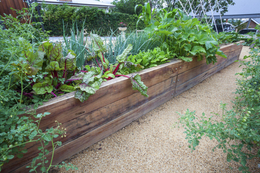 Raised garden beds are perfect for plant gardens. Raised garden beds make gardens easier to care for and prevents them from becoming overgrown into unwelcome spaces.