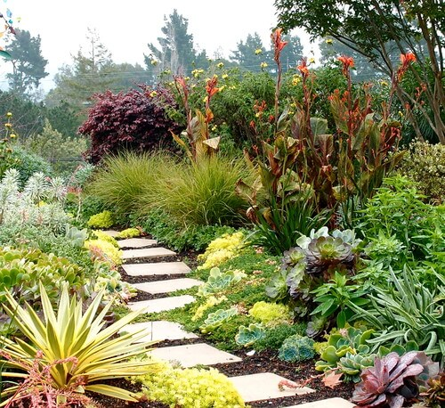 If your property lines a forest you can use plant gardens to blend your garden space into the woods. This creates a wonderful transition from your yard into the wilderness of the forest.