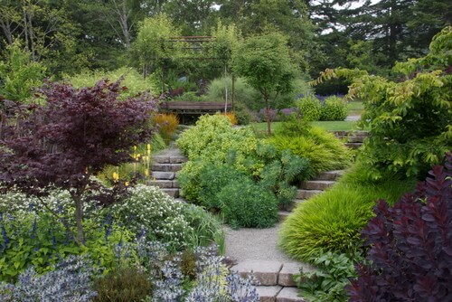 Plant gardens are amazing for lining walkways and pairing with stairs. A flourishing plant garden along the path is a great way to keep people from wandering off the walkway into areas meant to be off-limits.