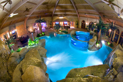 You don't necessarily have to build your water park outside. If you are able to build one inside you can access your water park in all weather. This can increase the use of your water park a great deal as rain and snow will not keep you out of the water.