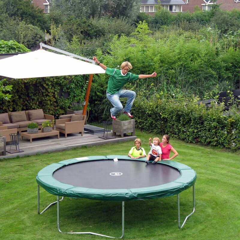Trampolines are a great family activity. Everyone can enjoy the backyard trampoline. Make sure that when younger children are using the trampoline they are being monitored.