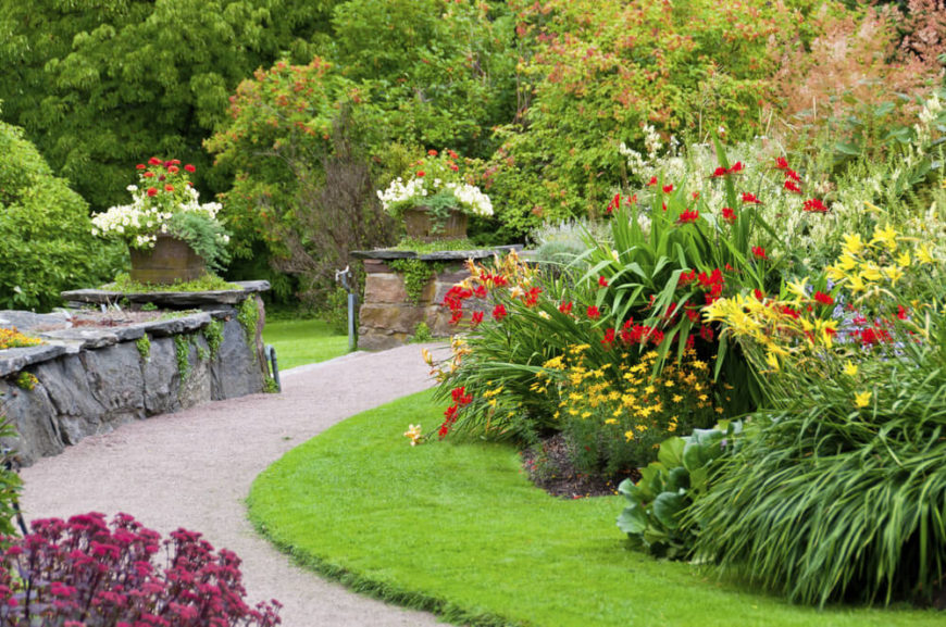 A large garden can also be a wonderful focal point for your yard space. You can put walls and paths around a large garden to draw attention to the space. If you are proud of your gardening skills you might as well let that be the crown jewel of your yard.