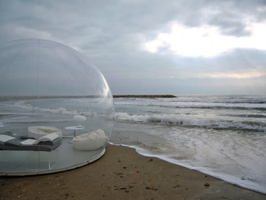 This fabulous clear dome sits beachside, giving it an amazing open sky to gaze upon the vastness of the observable universe. Listening to the ocean while taking in the realization of how small our world really is will be a transformative experience you will not forget.
