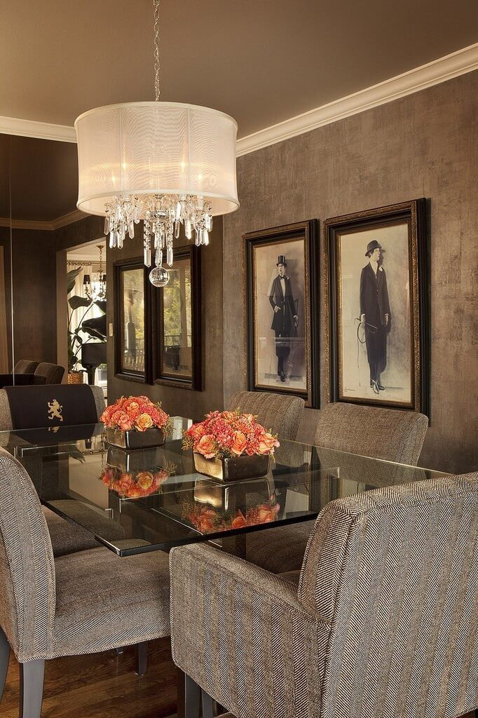 Classic dining room with vintage accents.