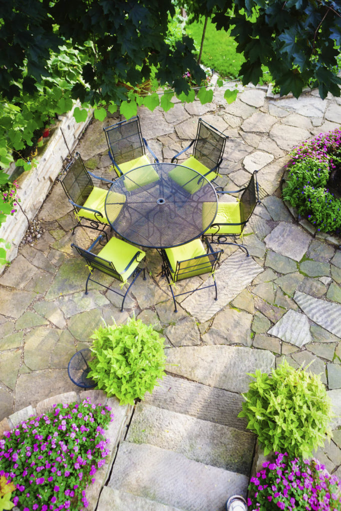 Small gardens are easy to organize and replicate. This makes twin small gardens possible and easy. Twin small gardens on either side of a feature are a very classy and colorful choice.