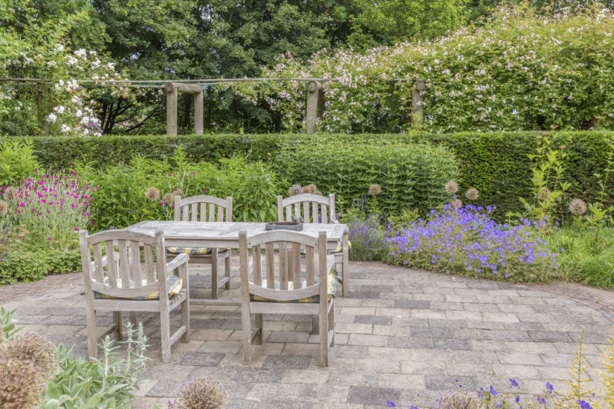 For the plant lover there is no limit to the joy a garden can bring. A garden is the perfect place to set up a table and chairs. It is well suited to have a place to eat and socialize amongst your colorful plants.