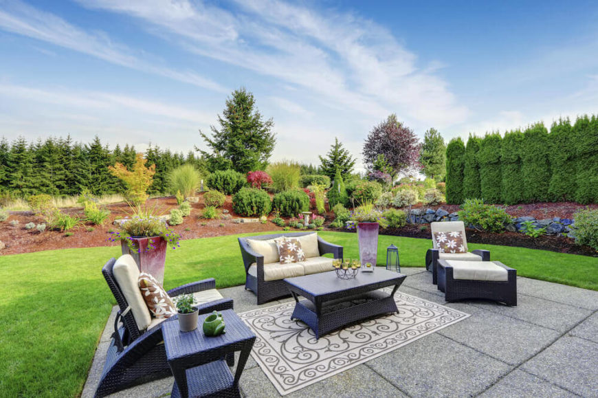 This yard is a beautiful example of astroturf. It is so well installed and natural that it could easily fool the casual observer. With turf for a lawn it leaves more time to tend to other gardens and plants.