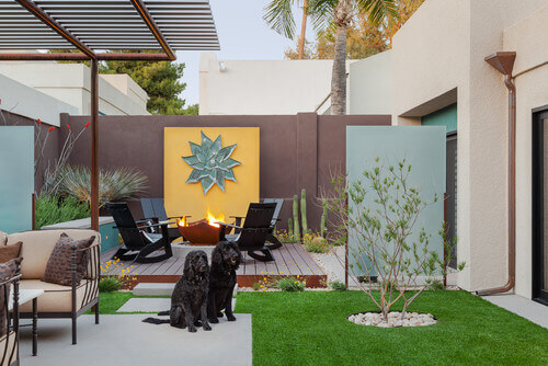 If you have a small outdoor space that may not get much sunlight, a natural lawn may not flourish. With astroturf your lawn can look lush and healthy even if you don't get much sun.