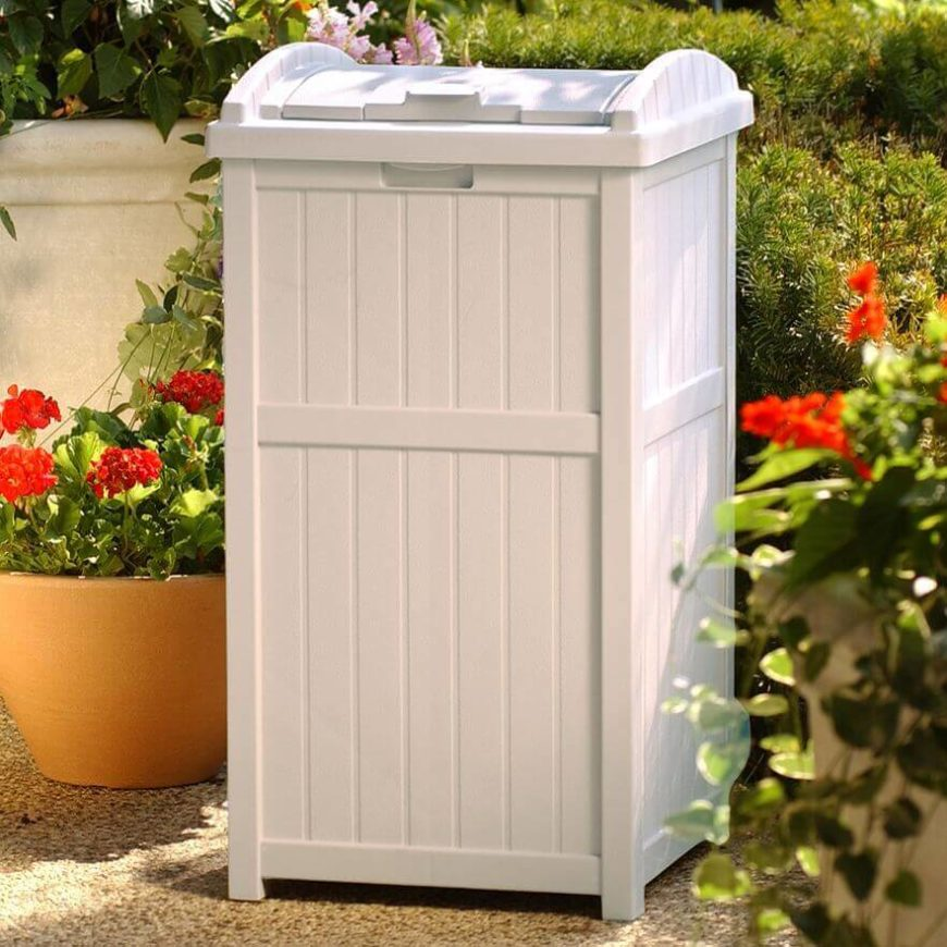 If you spend a great deal of time outdoors and/or often host a large number of gatherings, you may need a garbage bin. You might as well have a garbage bin that looks great alongside your other pieces of furniture.