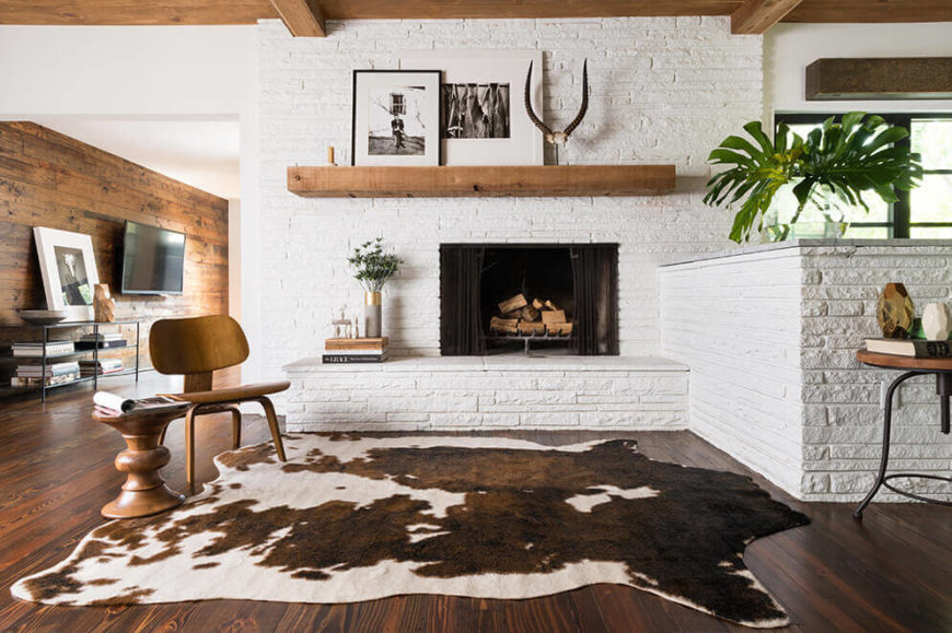 Infuse a bit of southwestern flair into an office or den with a rugged rawhide rug. Perfect as a conversation piece for guests, this rug is bound to add charm and luxury into any space.