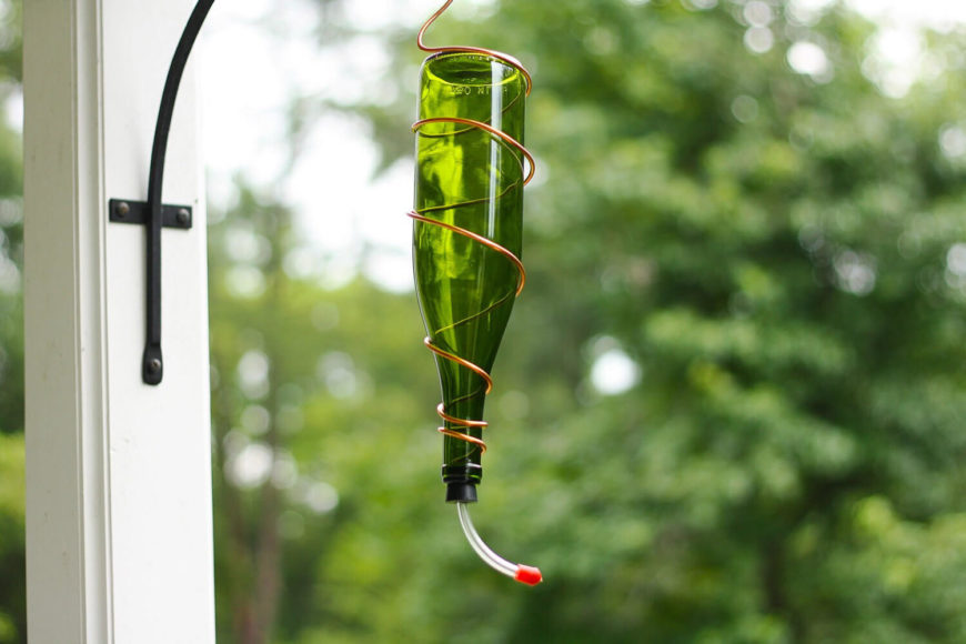 Hummingbirds are not like most birds and they require a different kind of feeder. If you want to attract these fun, colorful birds, a feeder such as this is a great option.