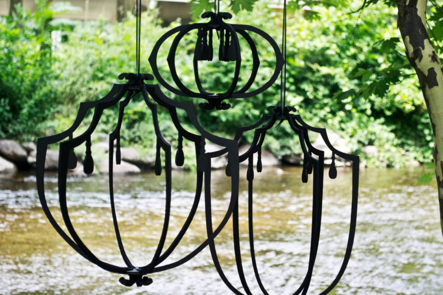 If you are looking for interesting lighting elements with a great design aspect, you can find pieces such as these hanging lanterns. These lanterns can add depth and appeal to your lighting elements and are quick and easy.