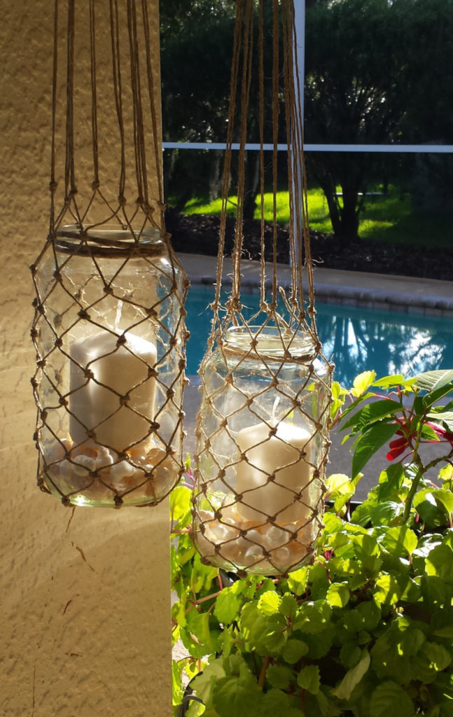 You can hang pieces from your gazebo with many different materials. Each of these materials work well alongside different design styles. Twine has a rustic and homey feel that is comfortable and relaxed.