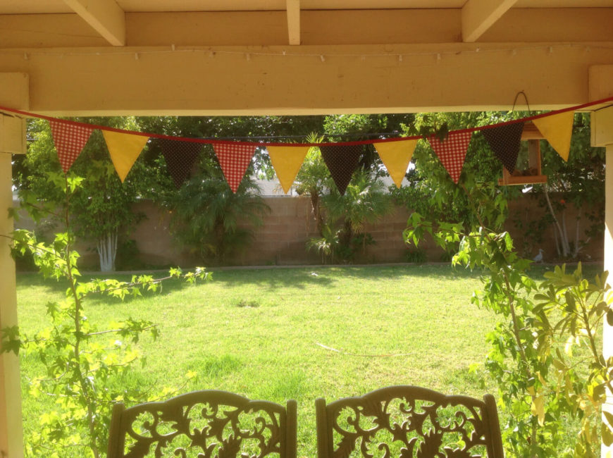 A pennant banner is a great addition for casual gatherings or celebrations. These banners bring great color and depth to your gazebo space.