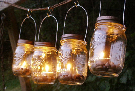 There are plenty of ways to provide lighting to your gazebo area. Different styles can have different effects. This option is a fantastic folksy option that will give your gazebo a warm homey feel.