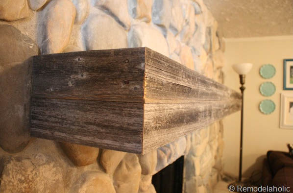 A fireplace without a mantle seems so bare, but an ornate mantle might not fit your design scheme or be out of reach for your DIY skills. This rustic wooden mantle DIY is the perfect solution for those who want a rustic fireplace mantle with little to no fuss!