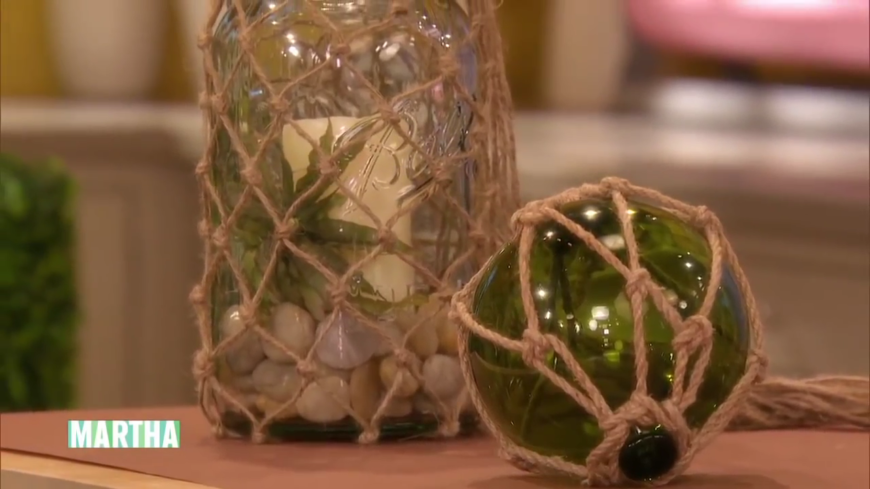There's nothing quite like beach glass and knotted lanterns to bring to mind the beach! These are really simple to make and look great both indoors and outdoors!