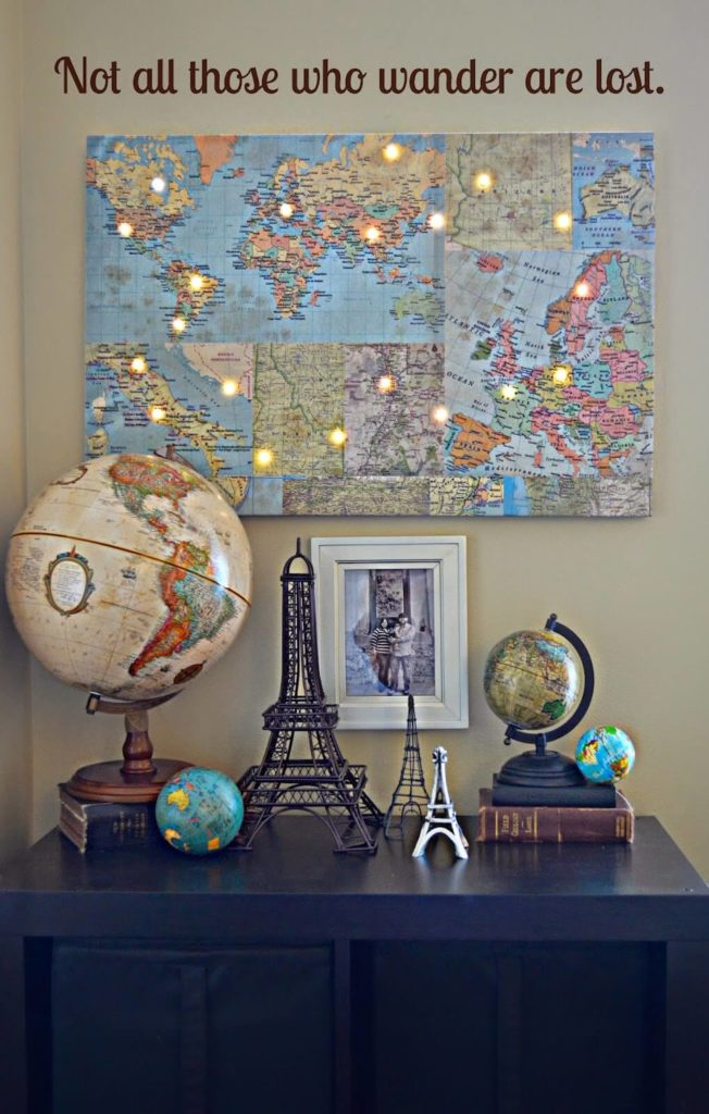 This awesome idea lets you pick your favorite spots around the world and light them up with string lights! This is an incredible piece of artwork that anyone will love.