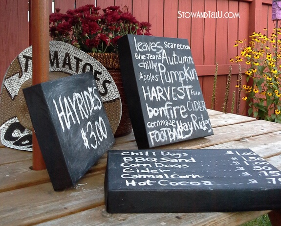 Shoebox lids become adorable chalkboard signs for the home! This is a classic trash-to-treasure DIY project.
