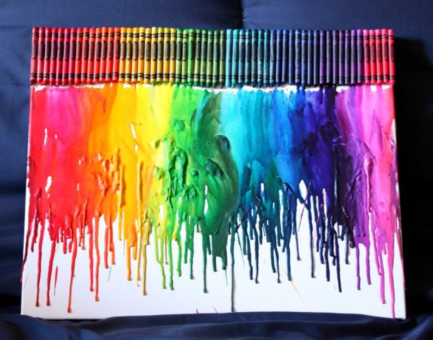 We've all seen those lovely canvases with melted crayons cascading down like rain on a silhouetted couple. Now you can learn how to make your very own melted crayon art!