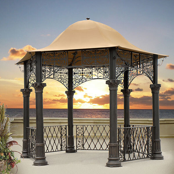 With its elegant design and attractive lines and features, this gazebo is a fabulous addition to any yard. The aged bronze finish gives this piece a lovely patina that adds a classy element.