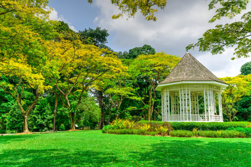 A bright and stylish gazebo can add a lot to a nice well maintained landscape. It can stand as a beacon among your landscape, drawing people into the space.