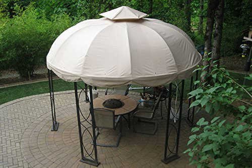 An easy to construct and move gazebo such as this is perfect for setting up around your patio furniture. This model can be taken down and stored when the patio furniture season is over.