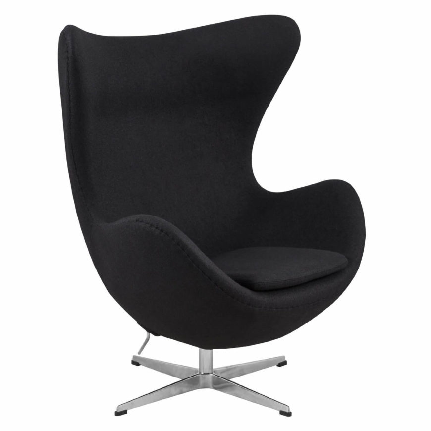 This is a classic version of the egg chair. Black is a universal color and is never out of place. How can you go wrong with a chair such as this one?