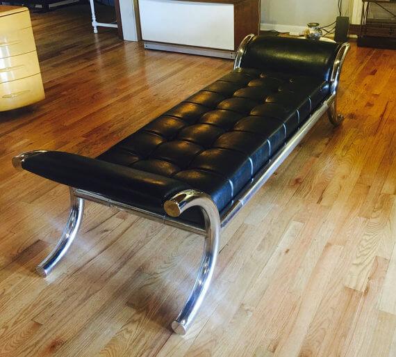 Italian Chrome Chaise Lounge
