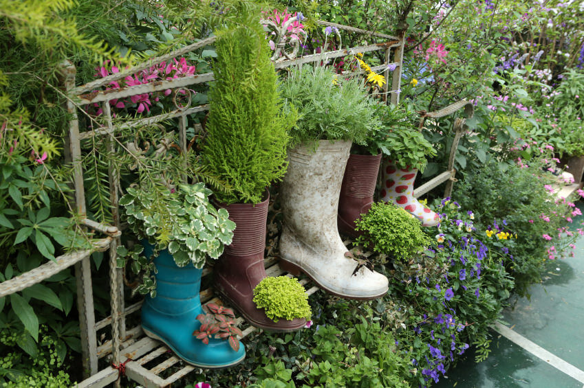 Finally there's something you can do with those worn out gumboots even when they're missing their partner. You can use them as planters for your herbs and even cut a hole on the front part to accommodate another plant. You don't even need to bother with the soiled look of these gumboots as it can only add a more rustic look to them.