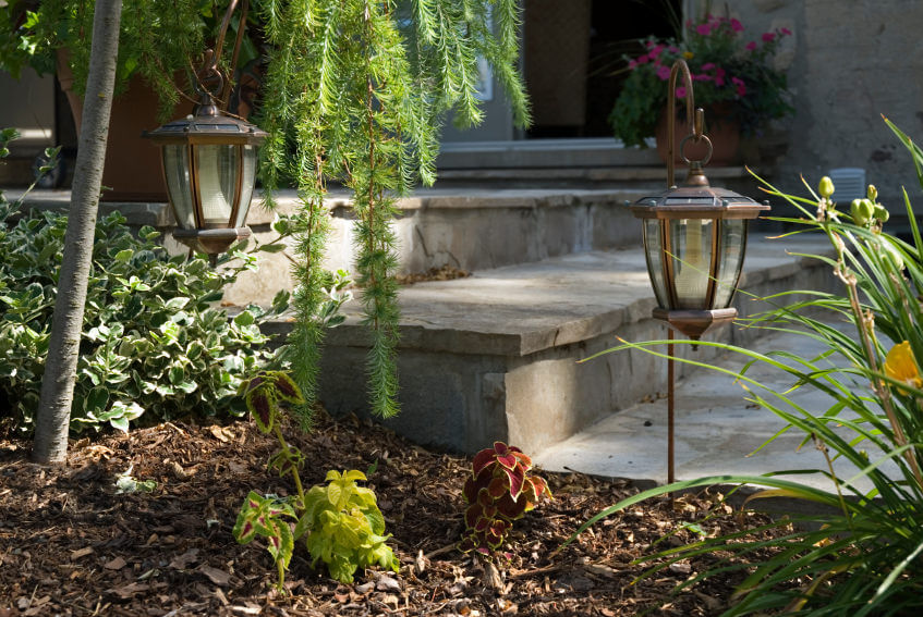 Stylish outdoor lamps are great ornaments to have in your garden, casting night lights on the garden steps as well as giving a classy feel.