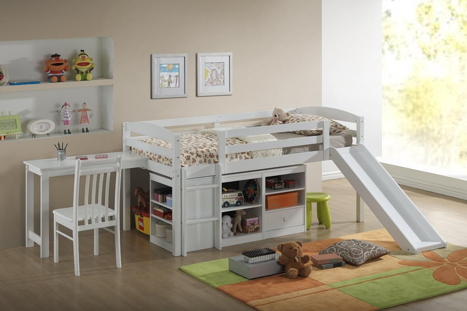 Picture of: Top 10 Kids Loft Beds With Slides