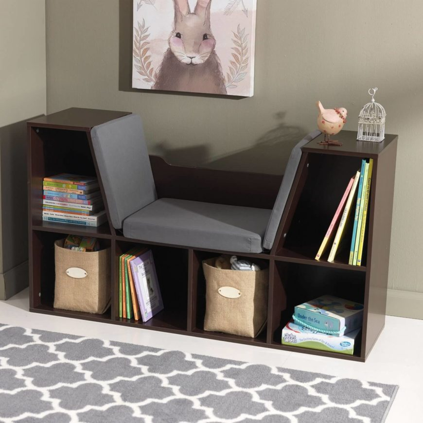 This mobile cubby can fit in darker spaces with style. These cubbies can hold all kinds of books and games that will keep your children occupied for a good long while.