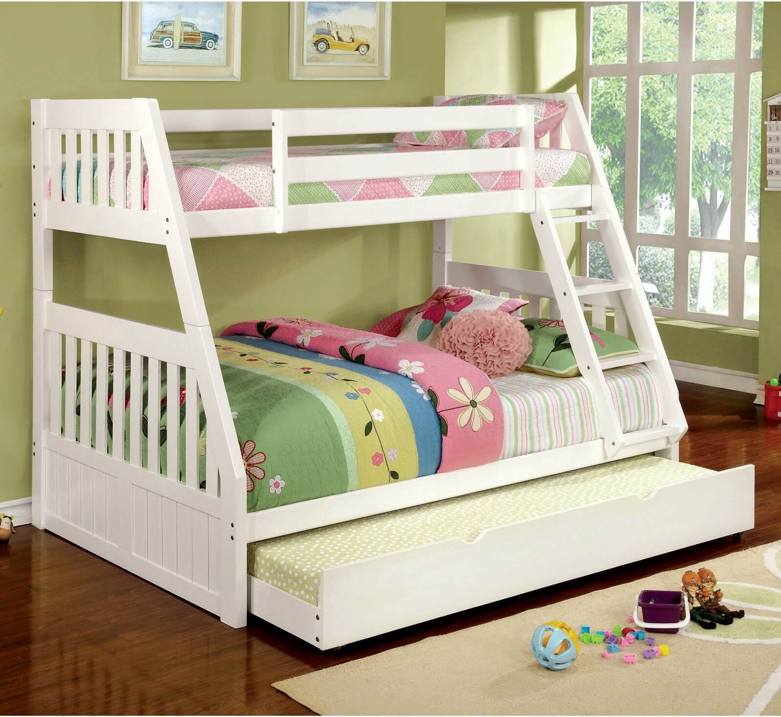 Twin over Full Bunk Bed with Trundle Option