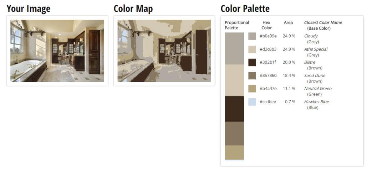 Color Palette for Tan, Brown and Grey Bathroom Color Scheme