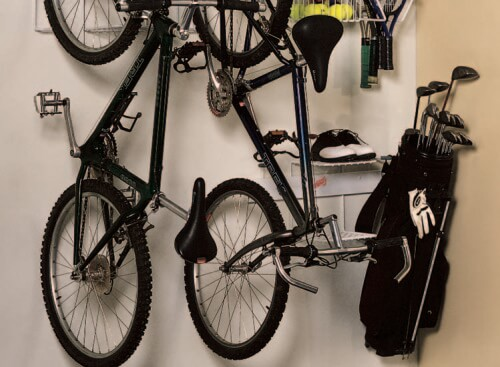 Sport Racks make it easy to store large-sized items such as mount bikes, golf equipment, balls, and skates so that they're ready to use.