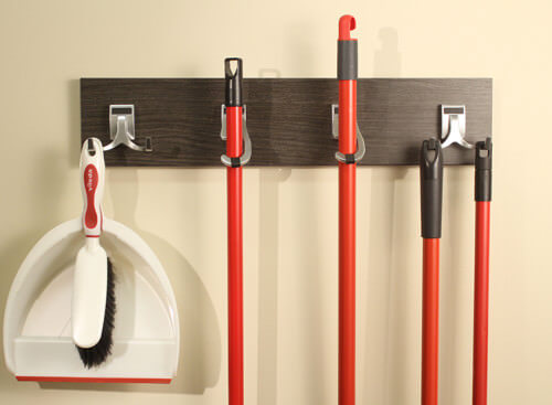 Utility Hooks are useful in organizing brooms and accessories on walls or on the back of tall cabinet doors.