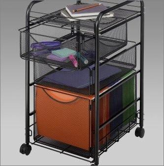 Metal mesh filing cabinet