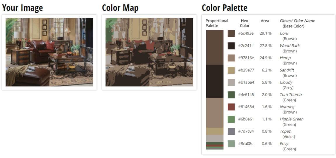 Color Palette for Wooden Brown Living Room Color Scheme