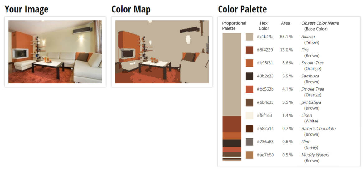 Color Palette for Yellow, Orange and Brown Living Room Color Scheme