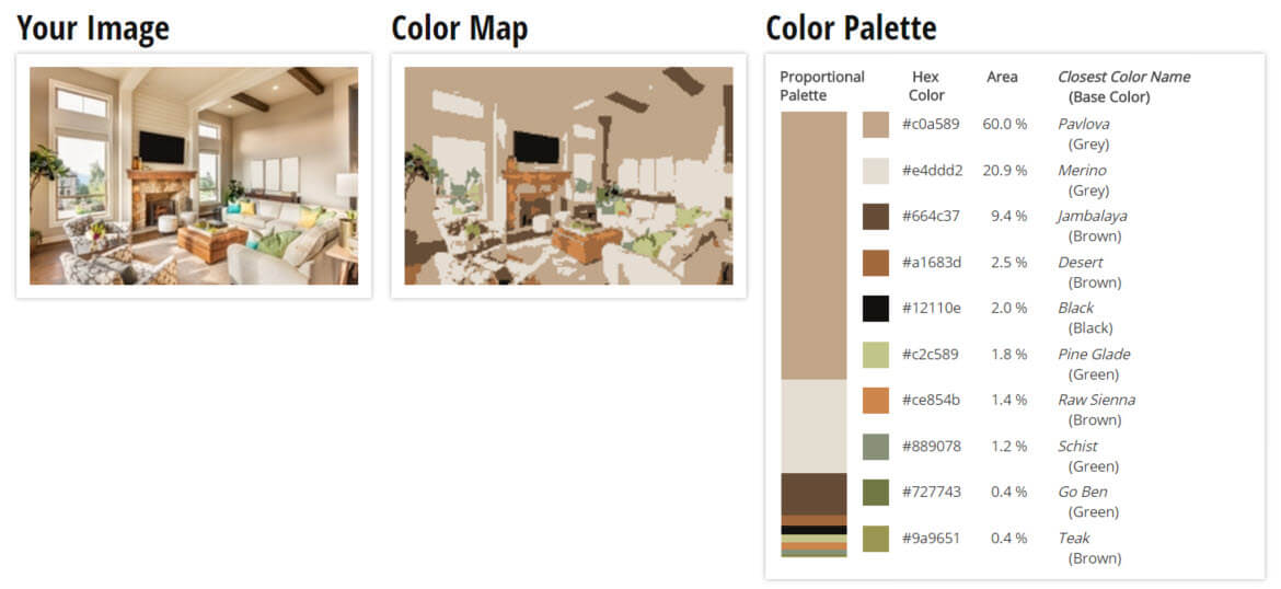Color Palette for Creamy Brown with Green Accents Living Room Color Scheme