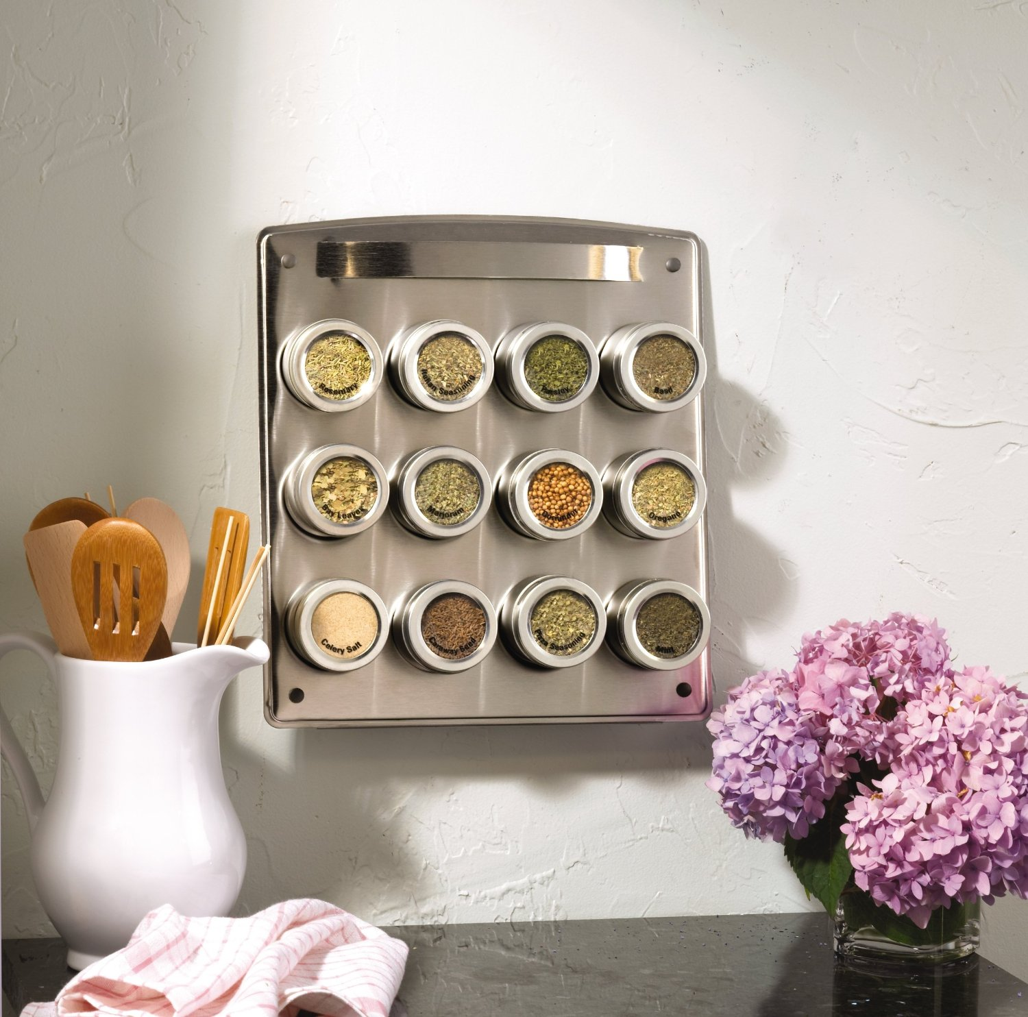 12-Tin Magnetic Spice Rack 2