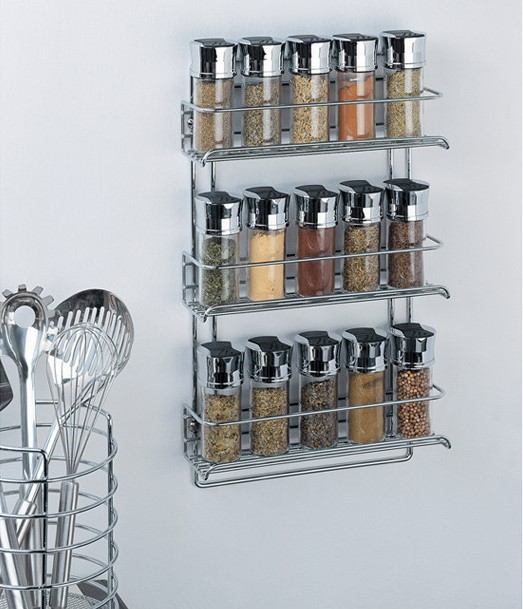 Stainless Steel Wall-Mount Spice Rack
