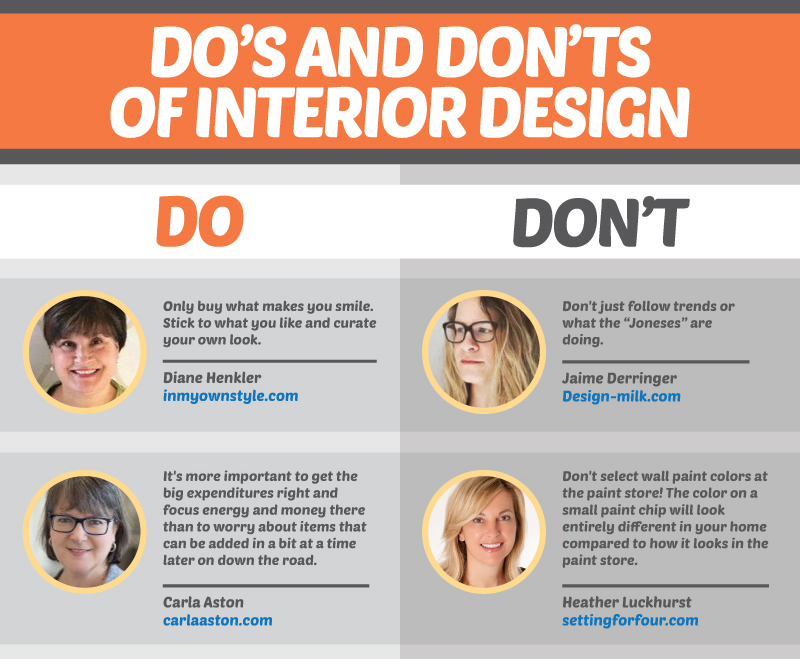 4 Do's and Don'ts of Interior Design (by the Pros)