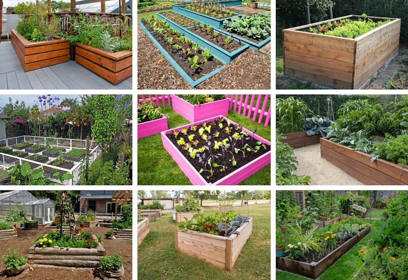 32 Raised Wooden Garden Bed Designs Examples