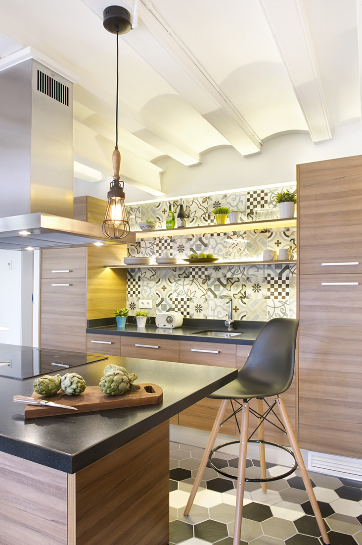 You can slice and chop your fresh cooking ingredients right on the granite made counter top. You can cook as well on a flameless cooking range right on the granite top.