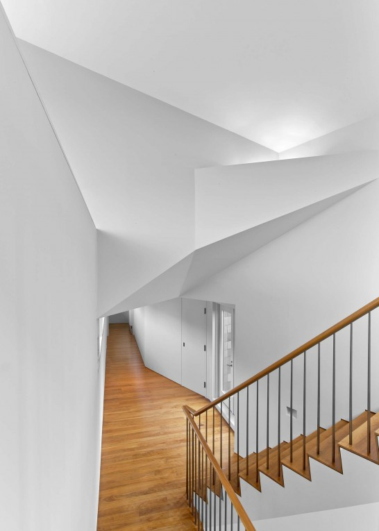 The modern design is exemplified by bold angles and stark lines.